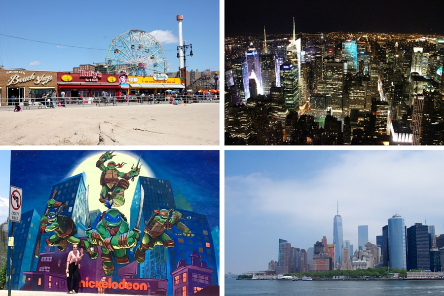 Manhattan, Coney Island and Williamsburg
