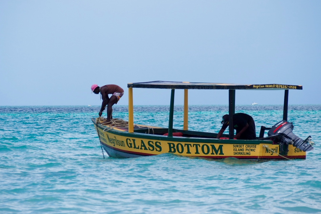 negril glassbottom boat